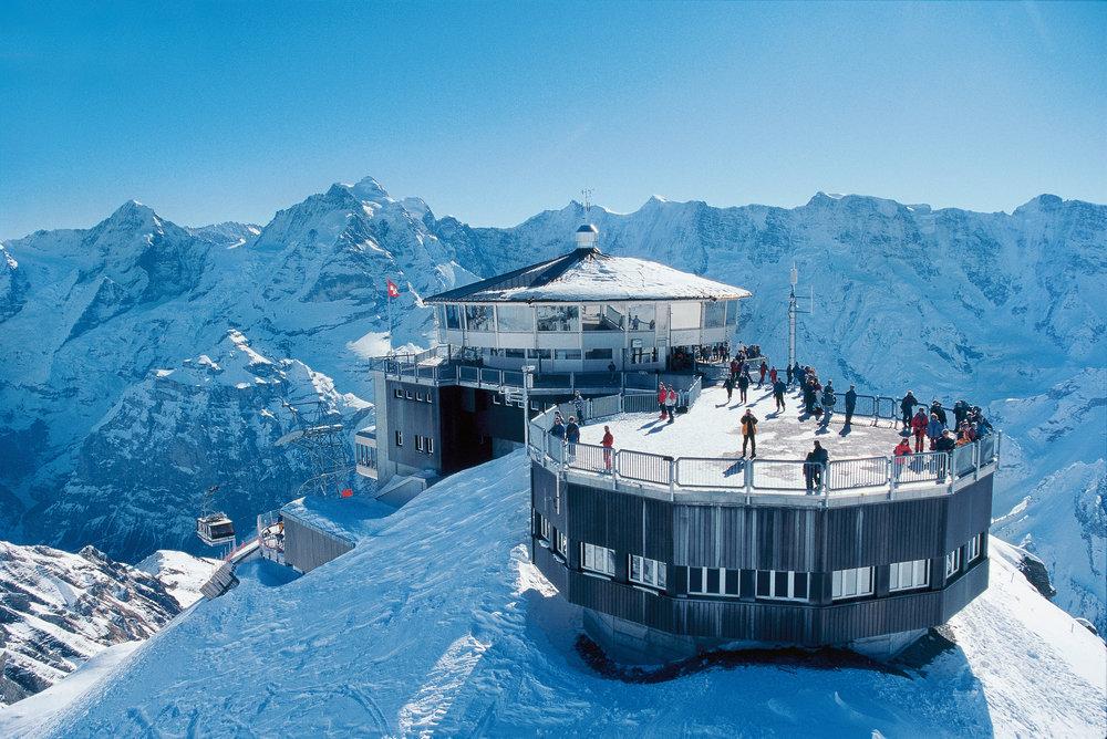 restoran na vrhu alpa