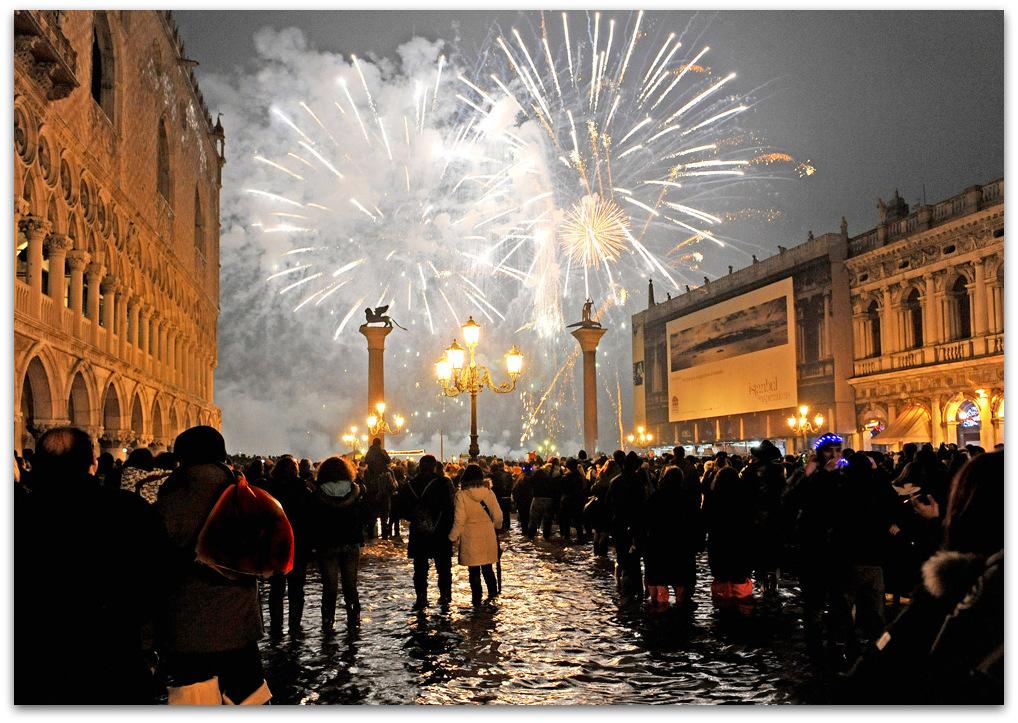 New Year's eve, Venice, Italy