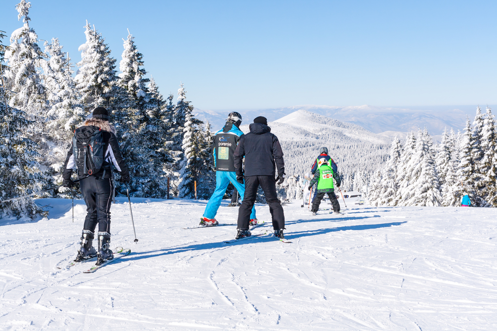 vikend skijanje na kopu