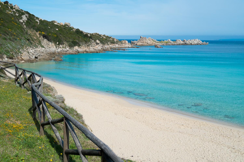 Sandy beach in Santa Teresa di Gallura, Sardinia, Italy